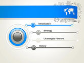 World Map and Charts PowerPoint Template#3