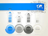 World Map and Charts PowerPoint Template#7