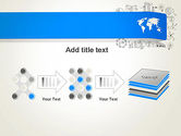 World Map and Charts PowerPoint Template#9