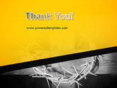 Crown of Thorns Cross PowerPoint Template#20