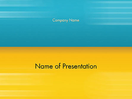 Blue and Yellow Background PowerPoint Template