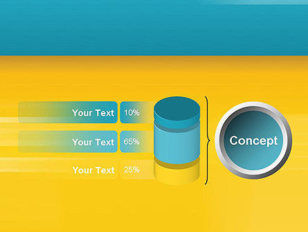 Blue and Yellow Background PowerPoint Template Slide 11