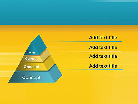 Blue and Yellow Background PowerPoint Template Slide 12