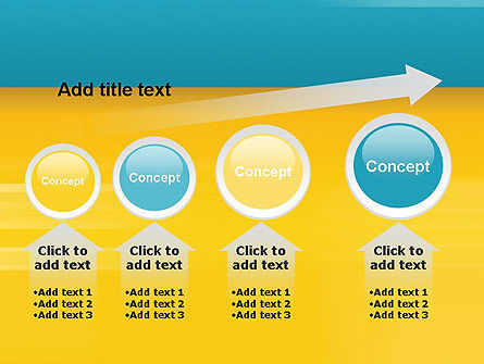 Blue and Yellow Background PowerPoint Template Slide 13