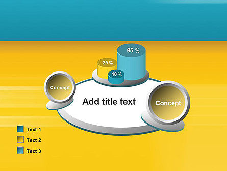 Blue and Yellow Background PowerPoint Template Slide 16
