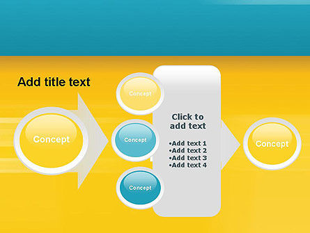Blue and Yellow Background PowerPoint Template Slide 17