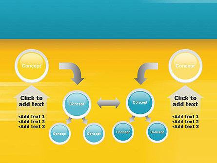 Blue and Yellow Background PowerPoint Template Slide 19