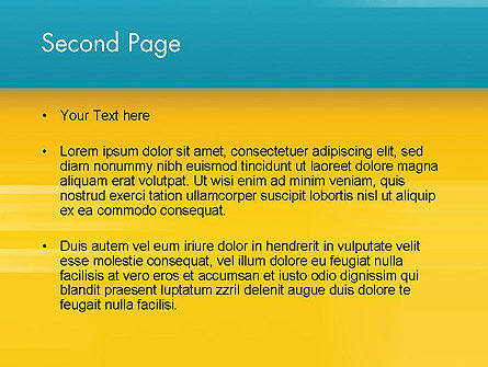 Blue and Yellow Background PowerPoint Template Slide 2
