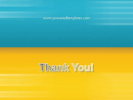 Blue and Yellow Background PowerPoint Template Slide 20