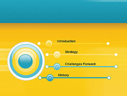 Blue and Yellow Background PowerPoint Template Slide 3