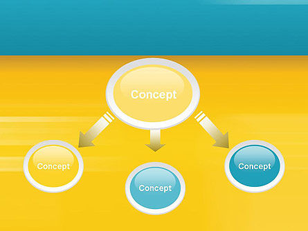 Blue and Yellow Background PowerPoint Template Slide 4