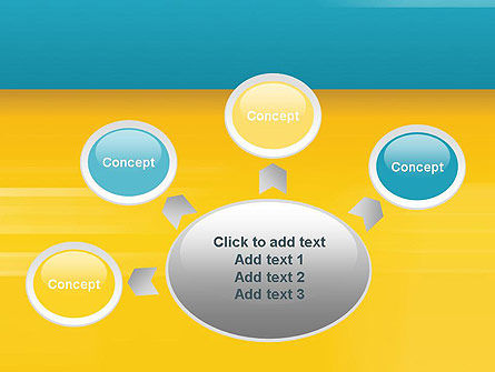 Blue and Yellow Background PowerPoint Template Slide 7