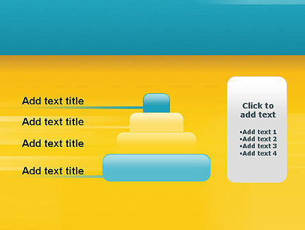 Blue and Yellow Background PowerPoint Template Slide 8