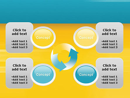 Blue and Yellow Background PowerPoint Template Slide 9