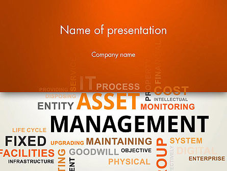 Asset Management Word Cloud PowerPoint Template, 12810, Careers/Industry — PoweredTemplate.com