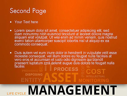 Asset Management Word Cloud PowerPoint Template Slide 2