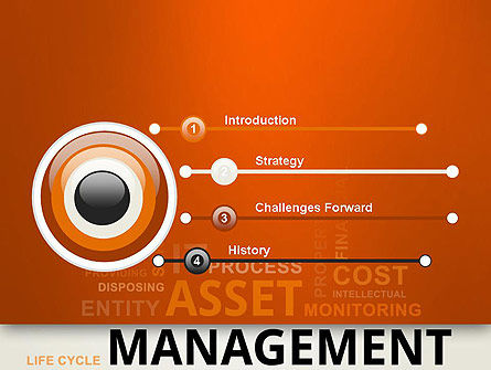 Asset Management Word Cloud PowerPoint Template Slide 3
