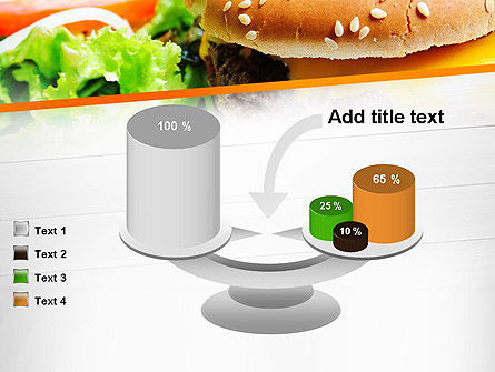 Cheese Burger with Salad PowerPoint Template Slide 10