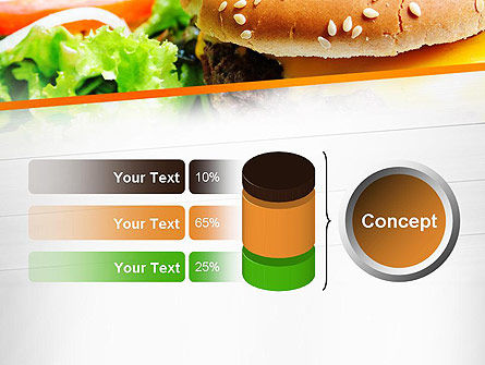 Cheese Burger with Salad PowerPoint Template Slide 11