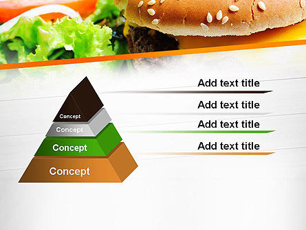 Cheese Burger with Salad PowerPoint Template Slide 12
