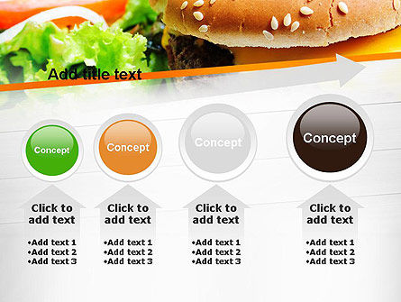 Cheese Burger with Salad PowerPoint Template Slide 13