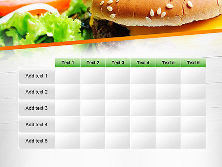 Cheese Burger with Salad PowerPoint Template Slide 15
