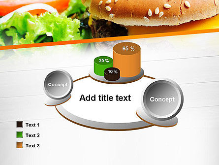 Cheese Burger with Salad PowerPoint Template Slide 16