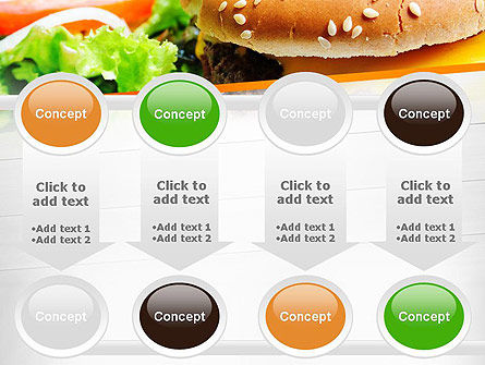 Cheese Burger with Salad PowerPoint Template Slide 18
