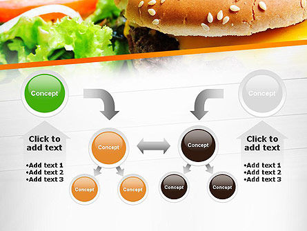 Cheese Burger with Salad PowerPoint Template Slide 19