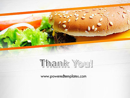 Cheese Burger with Salad PowerPoint Template Slide 20