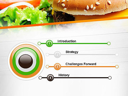 Cheese Burger with Salad PowerPoint Template, Slide 3, 12811, Food & Beverage — PoweredTemplate.com