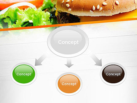 Cheese Burger with Salad PowerPoint Template, Slide 4, 12811, Food & Beverage — PoweredTemplate.com