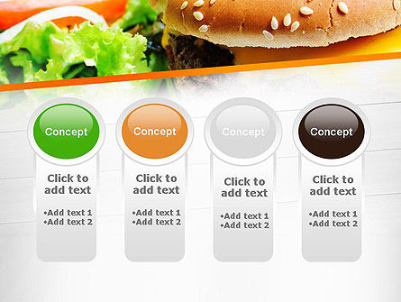 Cheese Burger with Salad PowerPoint Template Slide 5