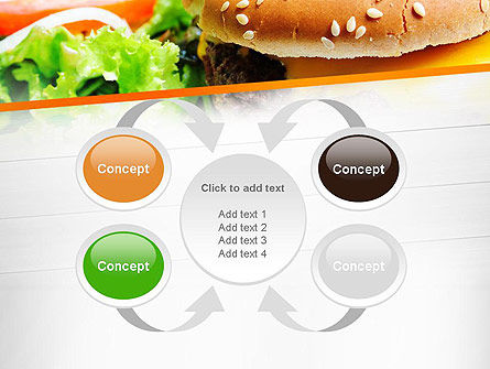 Cheese Burger with Salad PowerPoint Template Slide 6