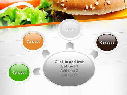 Cheese Burger with Salad PowerPoint Template Slide 7