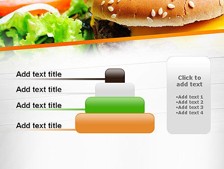 Cheese Burger with Salad PowerPoint Template Slide 8