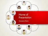 Business Concepts: Networking Group PowerPoint Template #12813