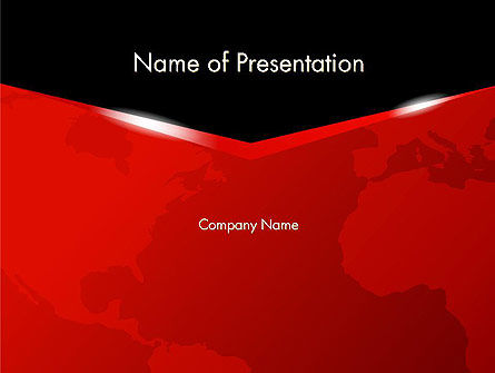 Business Style World Map PowerPoint Template, 12814, Global — PoweredTemplate.com