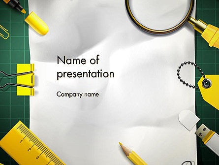 Education & Training: Stationery Supplies PowerPoint Template #12815