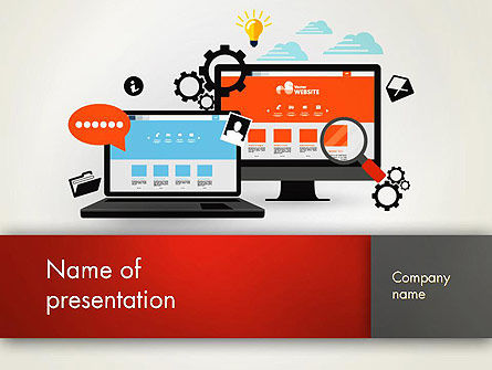 Web Design and Site Development PowerPoint Template, 12818, Careers/Industry — PoweredTemplate.com