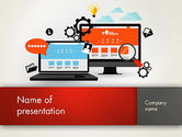 Careers/Industry: Web Design and Site Development PowerPoint Template #12818