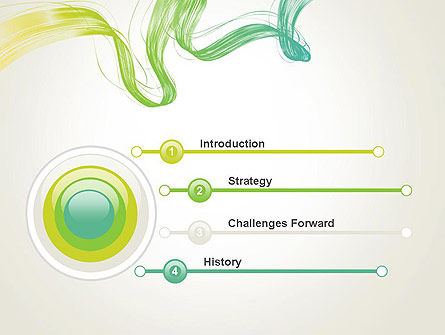 Abstract Dynamic Wave PowerPoint Template Slide 3