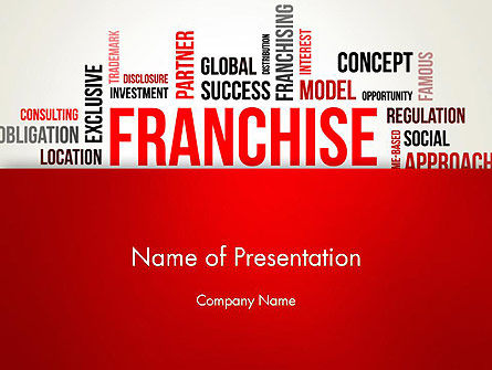 Business Concepts: Franchise Word Cloud PowerPoint Template #12820