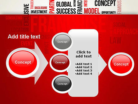 Franchise Word Cloud PowerPoint Template Slide 17