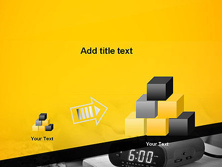 Wake Up Early Alarm Clock PowerPoint Template Slide 13