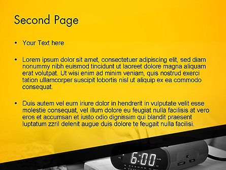Wake Up Early Alarm Clock PowerPoint Template Slide 2