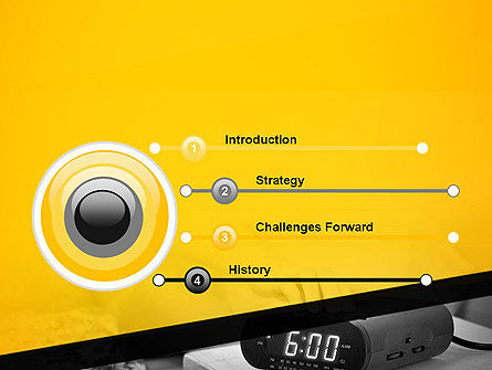 Wake Up Early Alarm Clock PowerPoint Template Slide 3