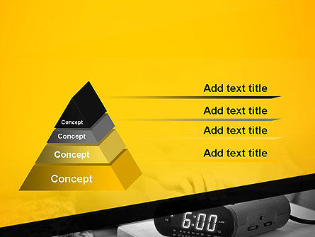 Wake Up Early Alarm Clock PowerPoint Template Slide 4