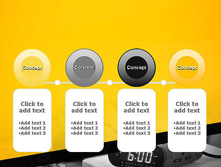 Wake Up Early Alarm Clock PowerPoint Template Slide 5