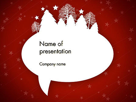 Speech Bubble with New Year Theme PowerPoint Template